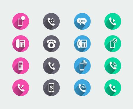 Telephone icons Vector