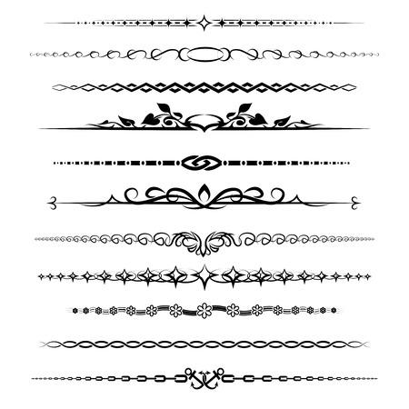 horizontal lines: Capítulo divisores establecen