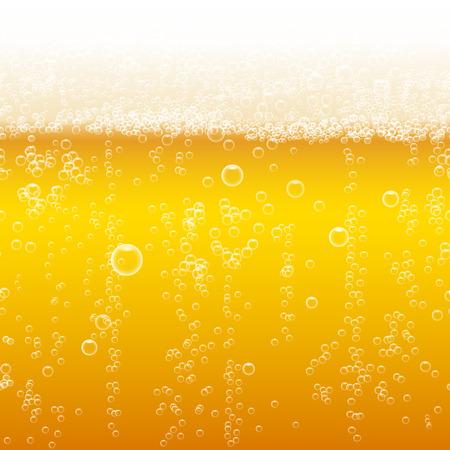 Beer foam background, horizontal seamless beer pattern