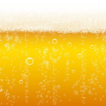 macro: Beer foam background, horizontal seamless beer pattern