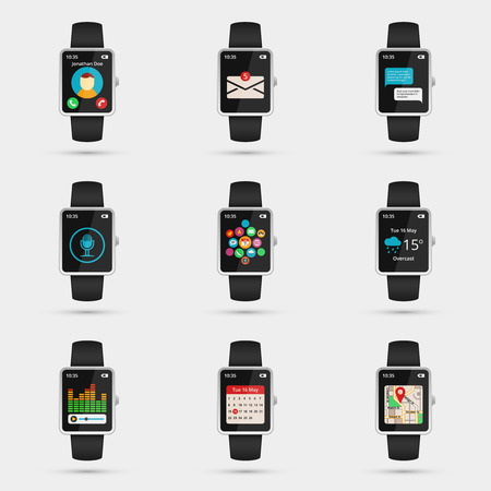 wrist watch: Smartwatch icons