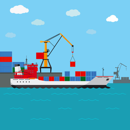 freighter: Cargo ship. Freight shipping by water