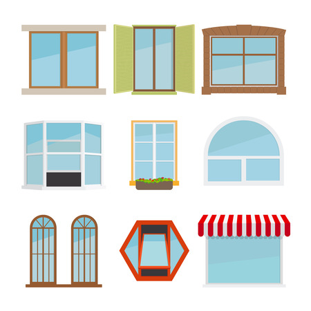 flat window set