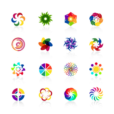 Circular logo shapes Illustration