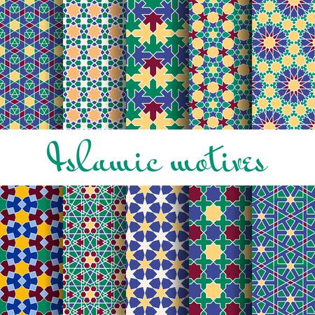 arab spring: Arab spring seamless pattern set