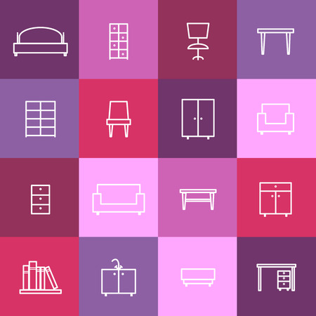 chair: Home interior icons