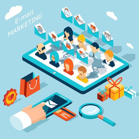 Mobiele app voor e-mail marketing. Beheer mailing van uw smartphone of tablet-pc