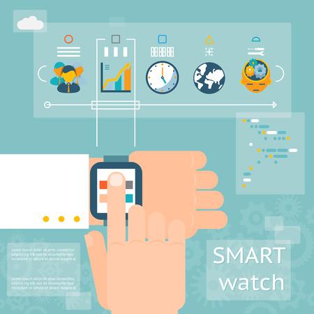 wristwatch: Smart watch Illustration