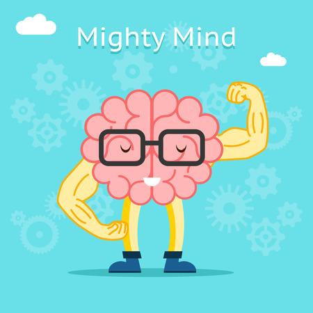 Mighty geest concept. Brain met veel creatief potentieel