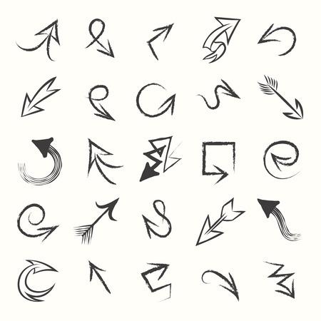 garabatos: Flechas drenadas mano del bosquejo