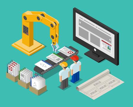 開発プロセスの web サイトのインターフェイス