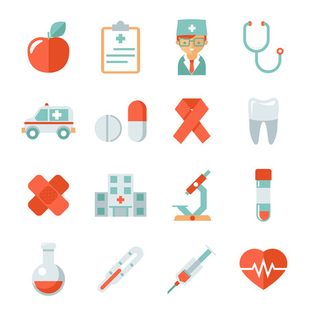 Medicine and health care icons Illustration