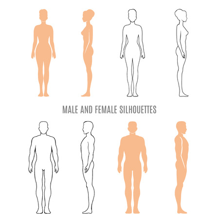 Male and female silhouettes