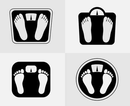 weight control: Bathroom scales icon. Weight control sign