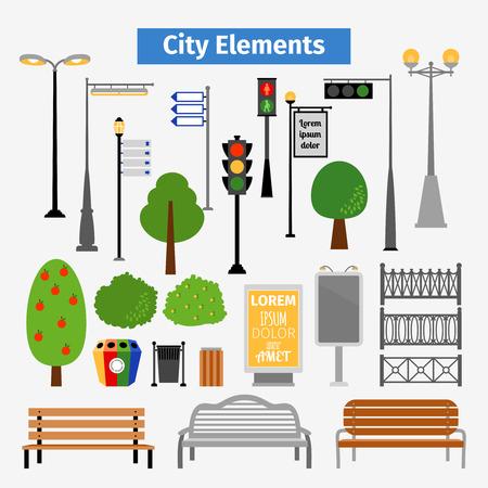 medioambiente: Ciudad y elementos al aire libre