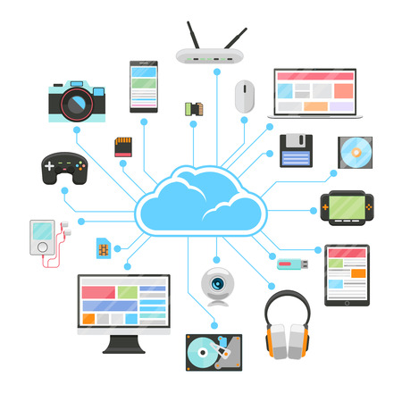 data memory: Cloud server and sync of electronic devices
