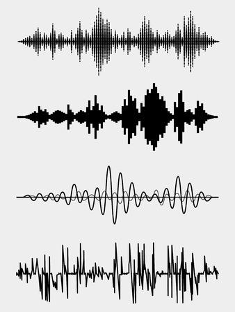 electronica musica: Ondas de sonido Vector