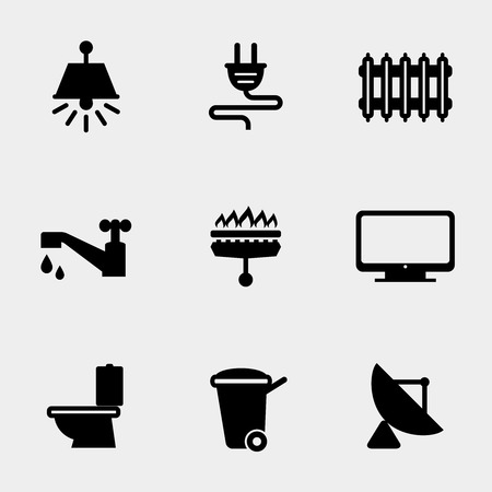 Home utilities icons Vector
