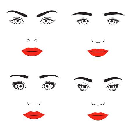 nostrils: Woman face silhouette