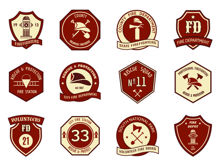extinguisher: Fire department badges