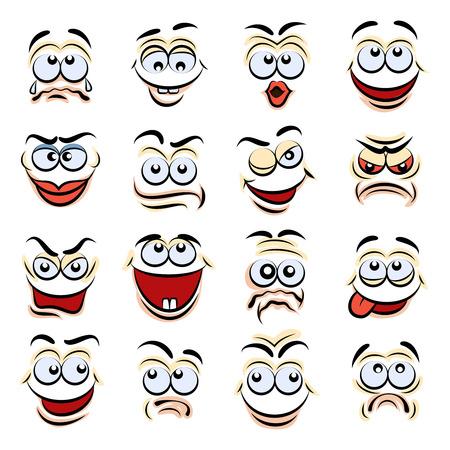funny face: Cartoon emotions