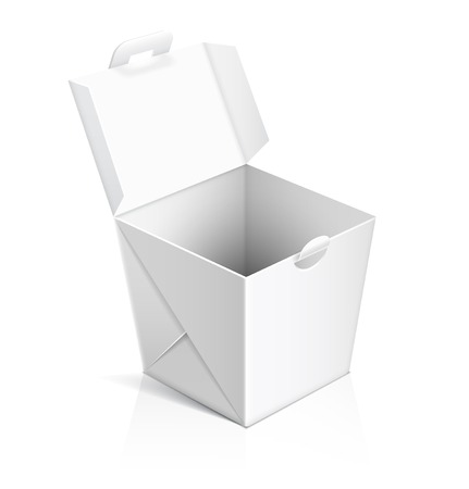 take out: Chinese food opened take out box