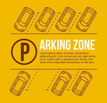 car: Vector parcheggio illustrazione