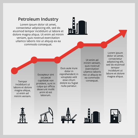 Oil price. Increasing price of oil Illustration