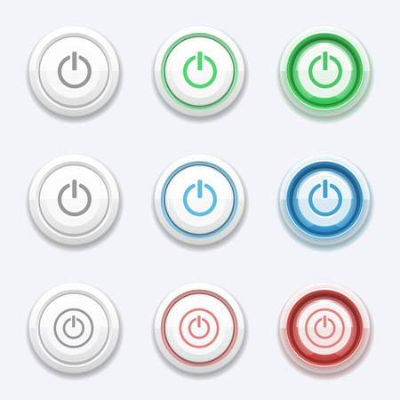 Inicio Vector o botón de encendido Foto de archivo - 40787362