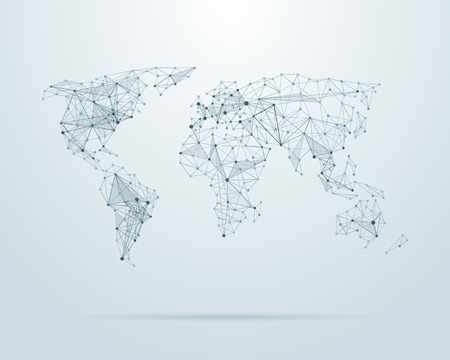 ベクトル低ポリ世界地図イラスト  イラスト・ベクター素材