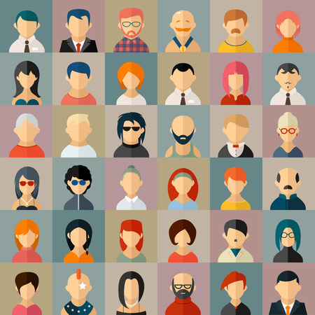 iroquois: Flat people character avatar icons