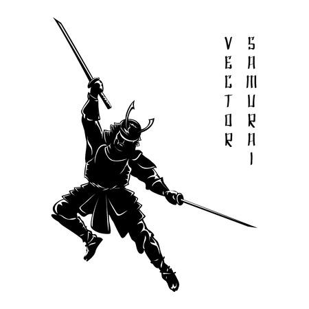 asian warrior: Samurai silhouette