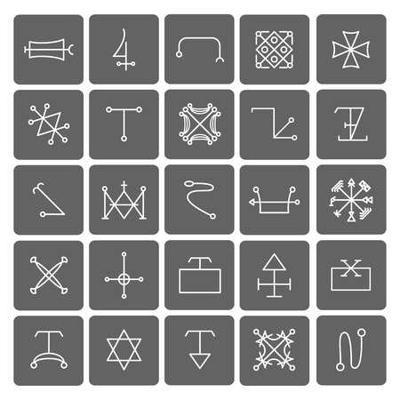 idolatry: Mystical symbols and sacred signs icons