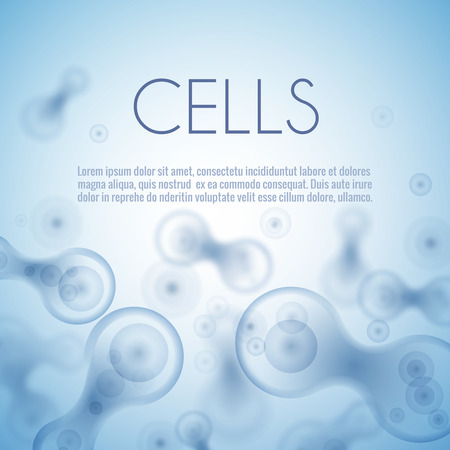 micro organism: Blue cell background