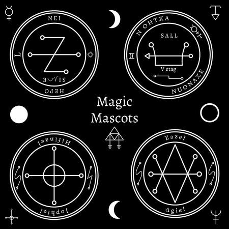 astrological: Astrological talismans set