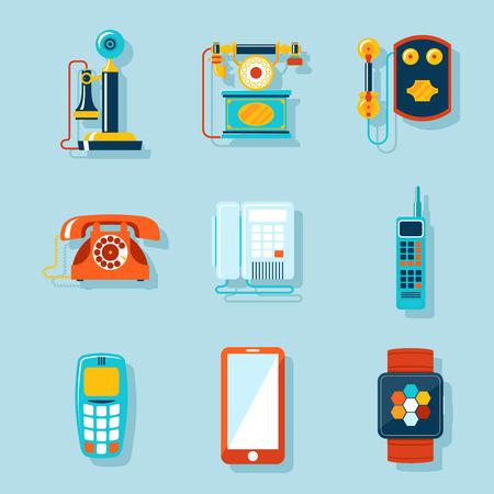 Wohnung Telefon-Icons Standard-Bild - 40787287