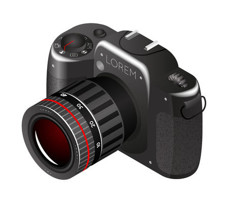 Vector digital photo camera  イラスト・ベクター素材