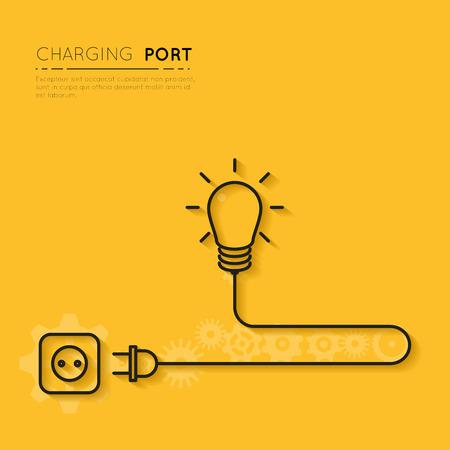 あなたの創造性を充電します。創造的なアイデアのための力  イラスト・ベクター素材