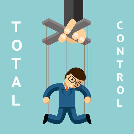 totales: Control total. El hombre de negocios de t�teres