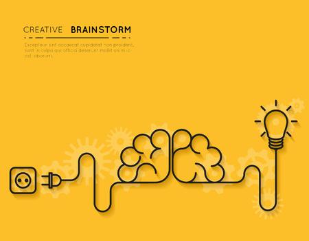 pensamiento creativo: Concepto de lluvia de ideas creativas Vectores