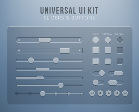 kit design: User interface elements with transparency Illustration