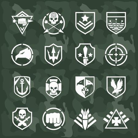 Vector military symbol icons Illustration