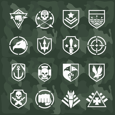 special forces: Vector military symbol icons Illustration
