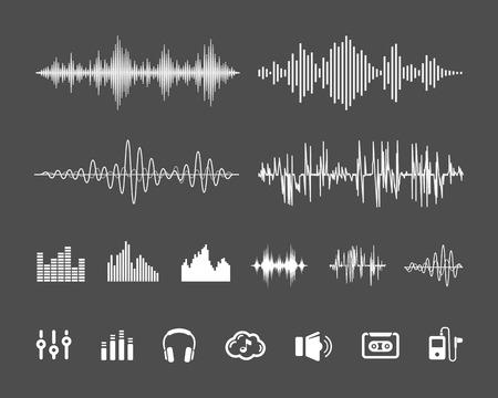 Sound waveforms  イラスト・ベクター素材