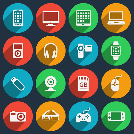 electronic device: Gadget icons