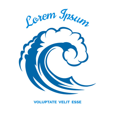 blue wave: Sea wave logo template