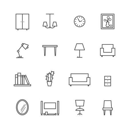 Line furniture icons