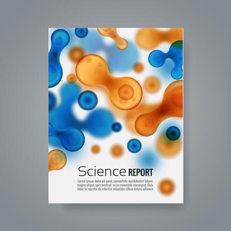 membrana cellulare: Priorità molecole medici sfondo Vettoriali