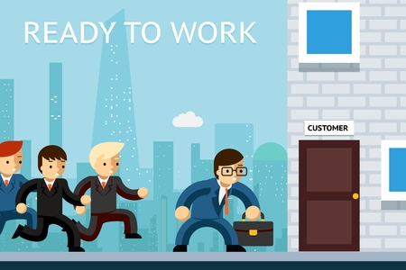 loyalty: Ready to work. Business managers waiting for customer