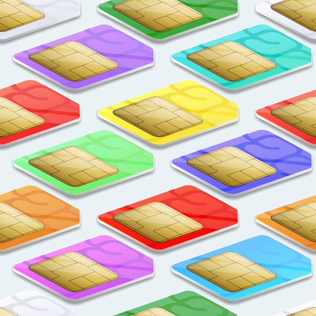 wireless technology: SIM cards seamless pattern background. Mobile telecommunication and wireless technology concept